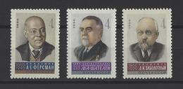 RUSSIE . YT 3080/3082 Neuf ** Scientifiques Soviétiques 1966
