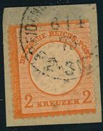 1872, 2 Kreuzer Großer Brustschild Auf Briefstück - STEMPEL FALSCH - Geprüft Sommer BPP - Lückenfüller