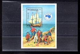 NICARAGUA BLOC 169** SUR UN VOILIER POUR L EXPO AUSIPEX 84