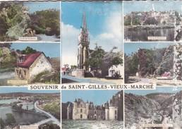 SAINT-GILLES-VIEUX-MARCHE.- Multivues - Saint-Gilles-Vieux-Marché