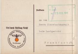 Geheime Staatpolizei Gestapo Staatspolizeistelle Frankfurt An Oberstaatsanwalt V. 18.02.1941