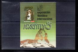 NICARAGUA BLOC 174** SUR UN CHIEN POUR L EXPO ARGENTINA 85