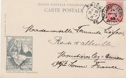 Belgique Timbre Perforé Sur Carte Officielle Liège 1905