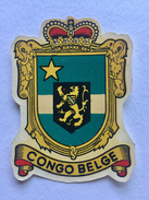 """CONGO BELGE """" Blason ,décalcomanie Ancienne Année 50 ,superbe """" - Congo Belge - Autres"""