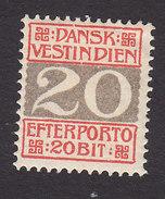 Danish West Indies, Scott #J6, Mint Hinged, Number, Issued 1905 - Denmark (West Indies)