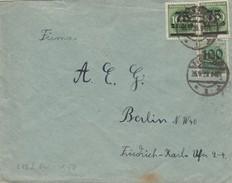 Allemagne Lettre Inflation Pforzheim 1923