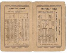 HORAIRE NORD / HORAIRE ÉTAT / Paris Saint-Lazare A Saint-Ouen L'Aumone Et Pontoise / Du 16.10 Au 14.05 1933 - Europe