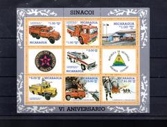 NICARAGUA BLOC 175** SUR LES POMPIERS