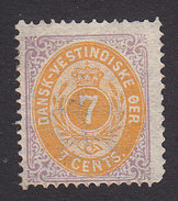 Danish West Indies, Scott #9, Mint Hinged, Number, Issued 1874 - Deens West-Indië