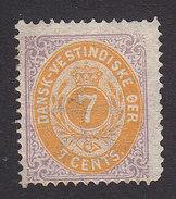 Danish West Indies, Scott #9, Mint Hinged, Number, Issued 1874 - Denmark (West Indies)