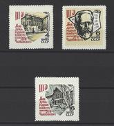 """RUSSIE . YT 3099/3101 Neuf ** 3e Concours International """"Tchaïkovski"""" De Musique  à Moscou 1966"""