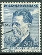 Tschechoslowakei  Mi. 976 + 998 Gest. Schriftsteller Sramek + Olbracht