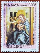 FREE POSTAGE!! Panama 1987 Christmas, Painting, Art, Konrad Witz, Weihnachten, Religion, 1v Part, Used, Gestempelt, Vg - Religieux