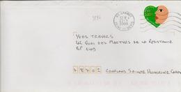 Timbre Seul Sur Lettre N°3296 Coeur Yves Saint Laurent (oblitération Du 22/01/2000) - 1961-....