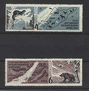 RUSSIE . YT 3115/3116 Neuf ** Cinquantenaire De La Réserve Bargousinsky (Lac Baïkal) 1966