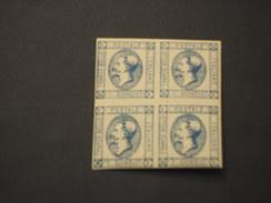 ITALIA REGNO - 1863 RE 15c, Quartina(block Of Four) - NUOVI(++)