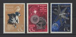 RUSSIE . YT 3120/3122 Neuf ** Explorations Spatiales Diverses 1966