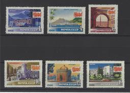 RUSSIE . YT 3124/3129 Neuf ** Tourisme. Vues Diverses 1966