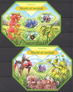 SS223 2014 SOLOMON ISLANDS FLORA FLOWERS WORLD OF ORCHIDS 1KB+1BL MNH