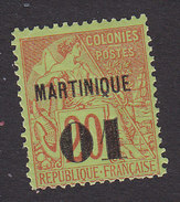Martinique, Scott #5, Mint Hinged, French Issue Surcharged, Issued 1886 - Martinique (1886-1947)