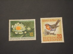 GERMANIA - 1957 FIORE ED UCCELLO  2 VALORI - NUOVI(++)