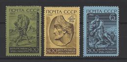 RUSSIE . YT 3137/3139 Neuf ** 8e Centenaire De La Naissance Du Poète Chota Roustaveli 1966