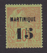 Martinique, Scott #7, Mint Hinged, French Issue Surcharged, Issued 1886 - Martinique (1886-1947)