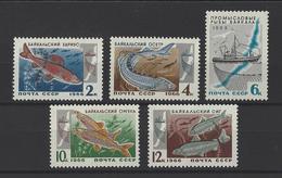 RUSSIE . YT 3141/3145 Neuf ** Poissons Du Lac Baïkal 1966