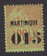 Martinique, Scott #8, Mint Hinged, French Issue Surcharged, Issued 1886 - Martinique (1886-1947)