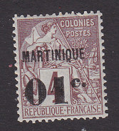 Martinique, Scott #10, Mint Hinged, French Issue Surcharged, Issued 1886 - Martinique (1886-1947)