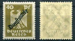 D. Reich Dienst Michel-Nr. 110 Postfrisch