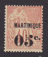 Martinique, Scott #16, Mint Hinged, French Issue Surcharged, Issued 1886 - Martinique (1886-1947)
