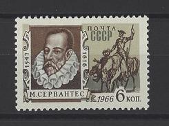 RUSSIE . YT 3179 Neuf ** 350e Anniversaire De La Mort De Miguel Cervantes De Saavedra. Ecrivain Espagnol 1966