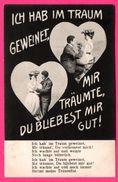 """2 Couples Dans 2 Cœurs - Couple - """" Ich Hab Im Traum Geweinet .... Strömt Meine Tränenflut """" - 1906 - Koppels"""
