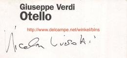 Nicola Luisotti Signature - Autogramme