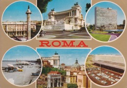 ROMA - 6 Vedute - Eur -  Aeroporto - Altare Della Patria - Stazione Termini Ecc. - 1980 - Roma (Rome)
