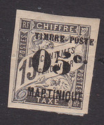 Martinique, Scott #23, Mint Hinged, French Issue Surcharged, Issued 1891 - Martinique (1886-1947)