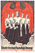 Propagandakarte Saartreuekundgebung August 1934 Koblenz - Ehrenbreitstein