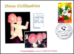ALGERIA 2015 Olmec Civilization Hallucinogenic Mushrooms Mythology Champignons  Pilze Hongos Hallucinogens Drugs
