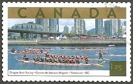 Sc. #1990a Tourist Attraction, Dragon Boat Races, B.C. HV Single 2003 K283 - 1952-.... Règne D'Elizabeth II