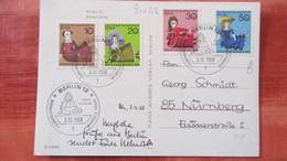 """Berlin: Ansichtskarte """"Berlin Europa Center"""" Mit Kompl.Satz Wofa Puppen Mit Ersttagsstpl. Vom 3.10.68 Knr: 322/5 - Ohne Zuordnung"""