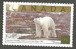 Sc. #1990b Tourist Attraction, Polar Bear Watching, Churchill, M.B. HV Single 2003 K284