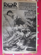 Radar N° 138. 1951. Fillette Alligator Schweitzer Carnera Boxe Eisenhower - Informations Générales