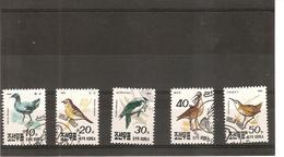 LE MONDE DES OISEAUX - EMISSION DE COREE - SERIE COMPLETE DE 1990 - YVERT ET TELLIER 2169 à 2173 - Collections, Lots & Series