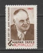 URSS  1965  Xx Uni 3967    -    Postfrisch   -   Vedi Foto !