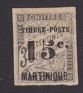 Martinique, Scott #25, Mint Hinged, French Issue Surcharged, Issued 1891 - Martinique (1886-1947)