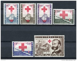 Bélgica 1959. Yvert 1096-1101 ** MNH.