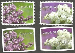 Sc. #2206a&b, 2707 & 08 Lilacs Souvenier Sheet And Booklet Pairs Used 2007 K299
