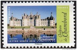 Autoadhésif(s) De France N° 1114_A ** De Feuille PRO -  Architecture Renaissance - Château De Chambord - - France