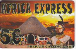 GREECE - Africa Express Prepaid Card 5 Euro, Sample - Greece